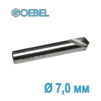 Сверло по металлу GOEBEL DIN 1897 короткое HSS-G шлифованное Ø 7.0 мм