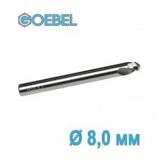 Сверло по металлу GOEBEL DIN 1897 короткое HSS-G шлифованное Ø 8.0 мм