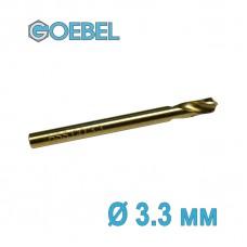 Сверло по металлу GOEBEL DIN 1897 короткое HSS-G Co шлифованное Ø 3.3 мм