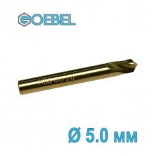 Сверло по металлу GOEBEL DIN 1897 короткое HSS-G Co шлифованное Ø 5.0 мм