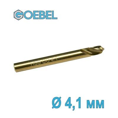 Сверло по металлу GOEBEL DIN 1897 короткое HSS-G Co шлифованное Ø 4.1 мм
