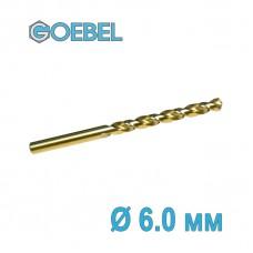Сверло по металлу GOEBEL DIN 338 HSS-G Co шлифованное Ø 6.0 мм