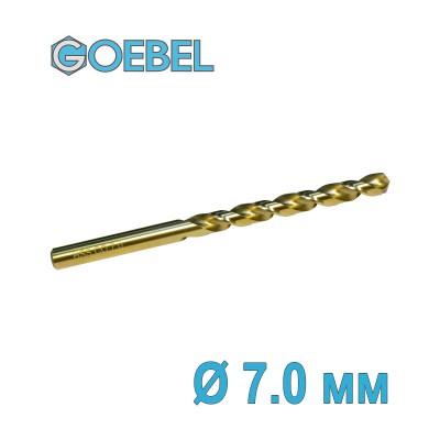 Сверло по металлу GOEBEL DIN 338 HSS-G Co шлифованное Ø 7.0 мм