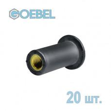 Заклёпка резьбовая GOEBEL из НЕОПРЕНА открытая со стандартным бортом - М3 - 0.4-4.0 мм 20 шт.
