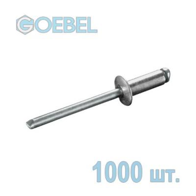 Заклепка вытяжная GOEBEL 3х4 мм Al/St стандартная 1000 шт.