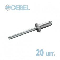 Заклепка вытяжная GOEBEL 3х4 мм Al/St стандартная 20 шт.