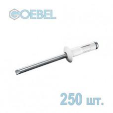 Заклепка вытяжная GOEBEL 3.2х8 мм Al/St многозажимная 250 шт.