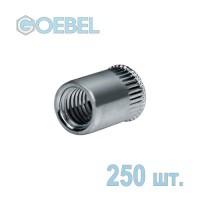 Заклёпка резьбовая GOEBEL Al открытая с малым потайным бортом - М10 - 0.8-3.5 мм 250 шт.