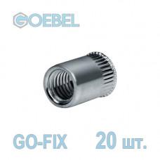 Заклёпка резьбовая GOEBEL GO-FIX St открытая с малым потайным бортом - М6 - 0.5-3.0 мм 20 шт.