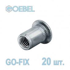 Заклёпка резьбовая GOEBEL GO-FIX Al открытая со стандартным бортом - М4 - 3.1-4.0 мм 20 шт.