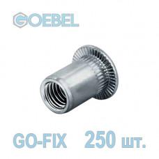 Заклёпка резьбовая GOEBEL GO-FIX A2 открытая со стандартным бортом - М4 - 0.5-3.0 мм 250 шт.