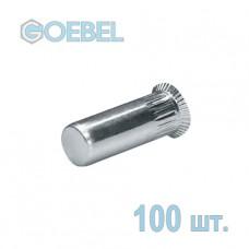 Заклёпка резьбовая GOEBEL A2 закрытая с малым потайным бортом - М6 - 0.5-3.0 мм 100 шт.