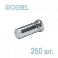 Заклёпка резьбовая GOEBEL A2 закрытая с малым потайным бортом - М5 - 0.5-3.0 мм 250 шт.