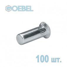 Заклёпка резьбовая GOEBEL St закрытая с потайным бортом - М6 - 1.5-4.5 мм 100 шт.