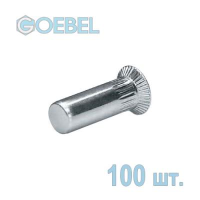 Заклёпка резьбовая GOEBEL St закрытая с потайным бортом - М4 - 1.5-4.0 мм 100 шт.