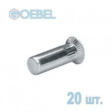 Заклёпка резьбовая GOEBEL St закрытая с потайным бортом - М4 - 1.5-4.0 мм 20 шт.