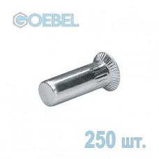 Заклёпка резьбовая GOEBEL St закрытая с потайным бортом - М6 - 1.5-4.5 мм 250 шт.