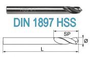Свёрла по металлу короткие DIN 1897 HSS-G