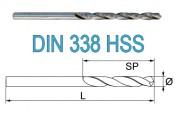 Свёрла по металлу DIN 338 HSS-G