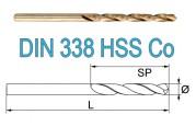 Свёрла по металлу DIN 338 HSS-G Co