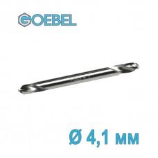 Сверло по металлу GOEBEL двухстороннее короткое HSS-G шлифованное Ø 4.1 мм