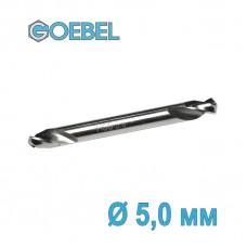 Сверло по металлу GOEBEL двухстороннее короткое HSS-G шлифованное Ø 5.0 мм